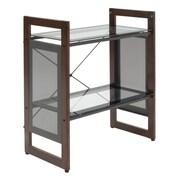 Calico Designs 25.5 x 13.75 Glass & Wood Office Line Bookshelf