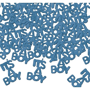 Light Blue It's A Boy Fanci-Fetti, 1/2 Ounce Each Package, 5/Pack