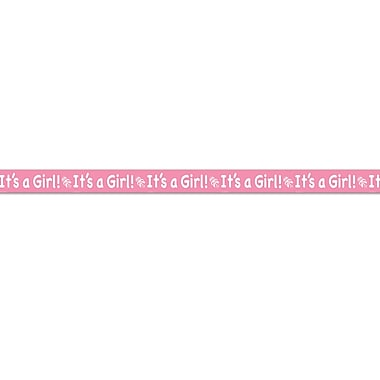 Ruban d'anniversaire rose « It's a Girl »!, 3 po x 20 pi, paquet de 5