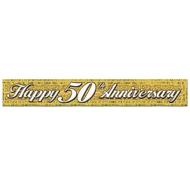 Metallic 50th Anniversary Fringe Banner, 8