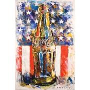 "Pyramid America™ ""Coca-Cola Flag"" Poster"