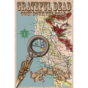 Ace Framing Grateful Dead Map Framed Poster, 36 x 24