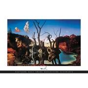 Pyramid America™ Salvador Dali Swans Reflecting Elephants Poster