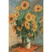 "Ace Framing Claude Monet ""Sunflowers 1881"" Framed Poster, 36"" x 24"""