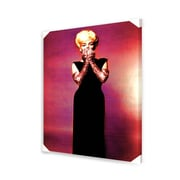 "Ace Framing ""Marilyn Monroe - Pink Gloves"" Canvas Wall Art, 36"" x 24"""