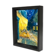 "Ace Framing ""Cafe Terrace"" By Vincent Van Gogh 3D Shadow Box, 8"" x 10"""