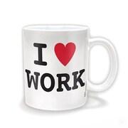 "Pyramid America™ ""I Heart Work"" 11 oz. Coffee Mug"