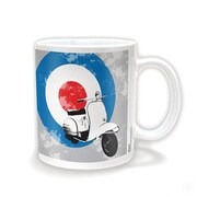 "Pyramid America™ ""Mod Scooter With Target"" 11 oz. Coffee Mug"