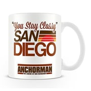 "Pyramid America™ ""Anchorman You Stay Classy San Diego"" 11 oz. Coffee Mug"