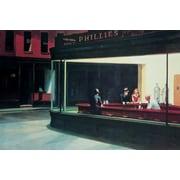 """Ace Framing Edward Hopper """"Nighthawks"""" Framed Poster, 24"""" x 36"""""""