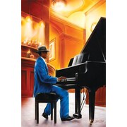 Ace Framing Jazz Piano Framed Poster, 36 x 24