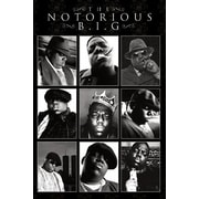 Ace Framing Notorious BIG Collage Framed Poster, 36 x 24