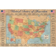 Ace Framing Map of the USA Framed Poster, 24 x 36