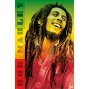 Ace Framing Bob Marley Colors Framed Poster, 36 x 24