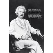 Ace Framing Mark Twain Discover Quote Framed Poster, 36 x 24