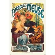 Ace Framing Alphonse Maria Mucha Mucha Bieres de la Meuse Framed Poster, 36 x 24