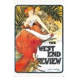 """Pyramid America™ Alphonse Maria Mucha """"The West End Review"""" Poster"""