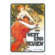 "Pyramid America™ Alphonse Maria Mucha ""The West End Review"" Poster"