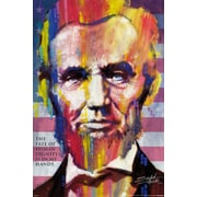 Ace Framing Stephen Fishwick Fishwick Abraham Lincoln Framed Poster, 36 x 24