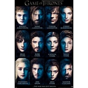 """Pyramid America™ """"Game of Thrones Characters List"""" Poster"""