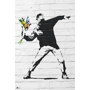 Ace Framing Banksy Flower Bomber Framed Poster, 36 x 24