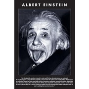 "Ace Framing ""Albert Einstein Tongue"" Framed Poster, 36"" x 24"""