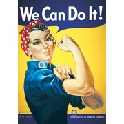 Ace Framing Rosie the Riveter We Can Do It! Framed Poster, 36 x 24