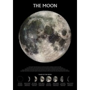 Pyramid America™ The Moon Outer Space Poster