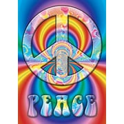 "Ace Framing ""Peace Symbol Colorful"" Framed Poster, 36"" x 24"""