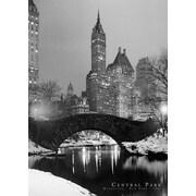 """Ace Framing """"Central Park New York City Black & White"""" Framed Poster, 36"""" x 24"""""""