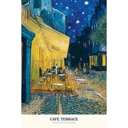 Ace Framing Vincent Van Gogh Cafe Terrace at Night Framed Poster, 36 x 24