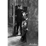 Ace Framing The Kid Around The Corner Charlie Chaplin Framed Poster, 36 x 24