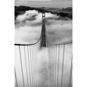 Ace Framing Misty Morning Bridge Framed Poster, 36 x 24