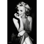 "Ace Framing ""Marilyn Monroe Sitting"" Framed Poster, 36"" x 24"""