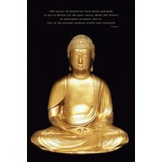 Ace Framing Gold Buddha Framed Poster, 36 x 24
