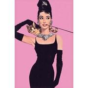 """Ace Framing """"Audrey Hepburn Pink"""" Framed Poster, 36"""" x 24"""""""