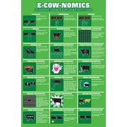 Ace Framing E Cow Nomics Framed Poster, 36 x 24