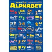 Ace Framing Learn the Alphabet Framed Poster, 36 x 24