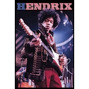 Ace Framing Jimi Hendrix Stars & Stripes Framed Poster, 36 x 24