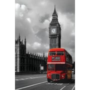 Ace Framing London Red Bus Framed Poster, 36 x 24