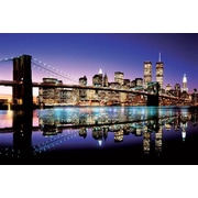 Ace Framing Brooklyn Bridge Color Framed Poster, 24 x 36
