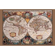 "Ace Framing ""17th Century World Map"" Framed Poster, 24"" x 36"""