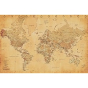 Pyramid America™ World Map Vintage Style Poster