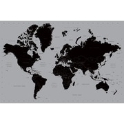 Ace Framing World Map Contemporary Framed Poster, 24 x 36