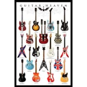 Ace Framing Guitar Heaven Framed Poster, 36 x 24