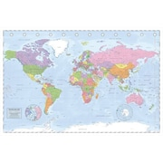 """Pyramid America™ """"Political World Map - Miller Projection"""" Poster"""