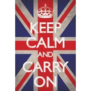 Ace Framing Keep Calm & Carry On Union Jack Framed Poster, 36 x 24
