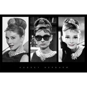 Ace Framing Audrey Hepburn Triptych Framed Poster, 24 x 36