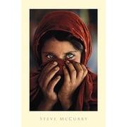 Ace Framing Steve McCurry Afghan Girl Framed Poster, 36 x 24