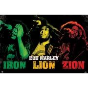 "Pyramid America™ ""Bob Marley Iron Lion Zion"" Poster"